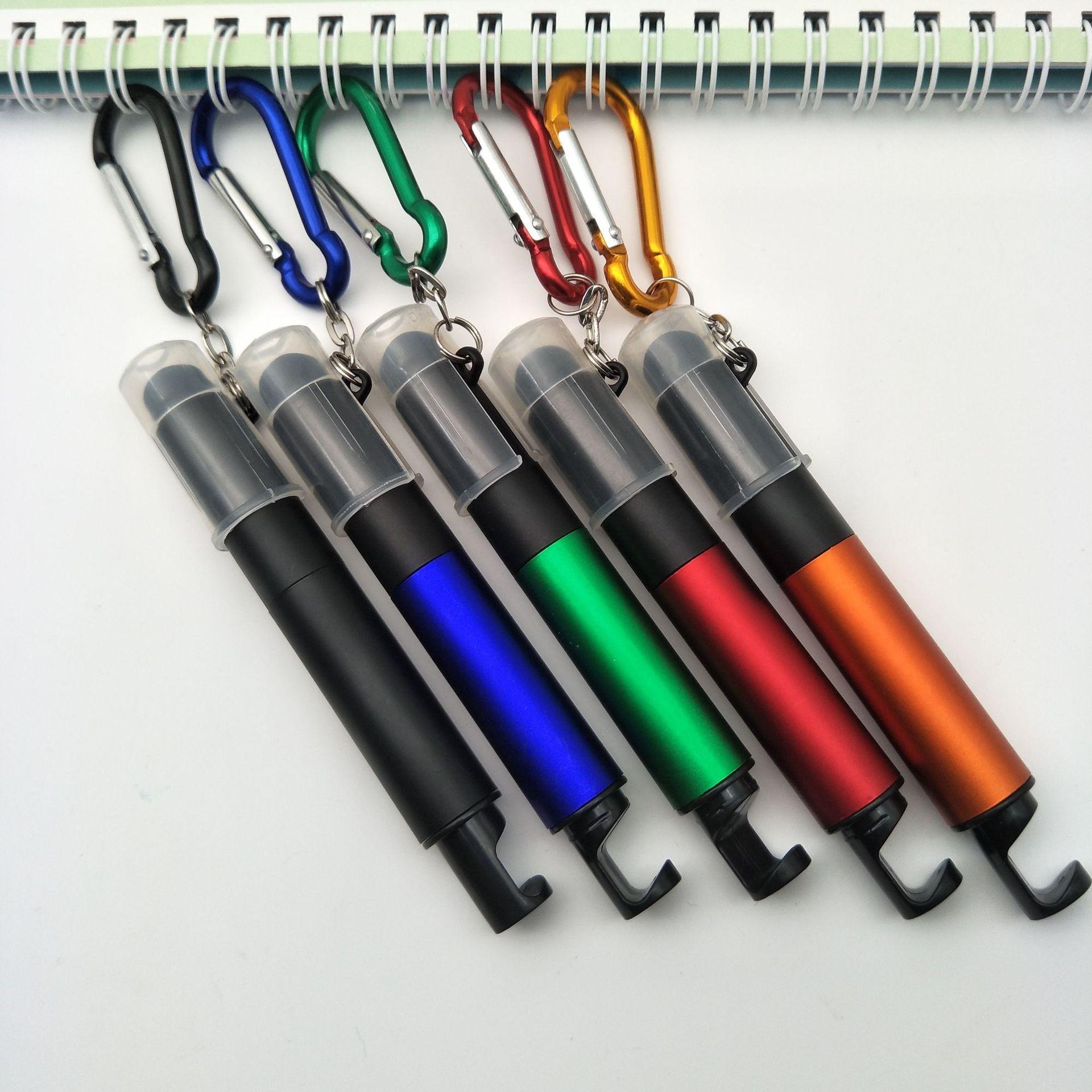 La vente directe à bille de support de téléphone mobile écran tactile boîte à lumière stylo montagne stylo lumineux bouton stylo boîtier de la lampe