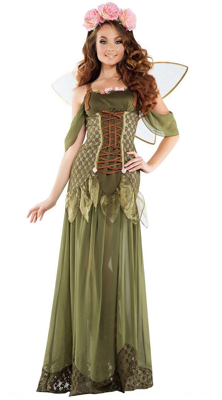 4EL85 Nouvelle split-taille Wansheng festival princesse fée fleur ange vert forêt elfe DS vêtements de performance vêtements
