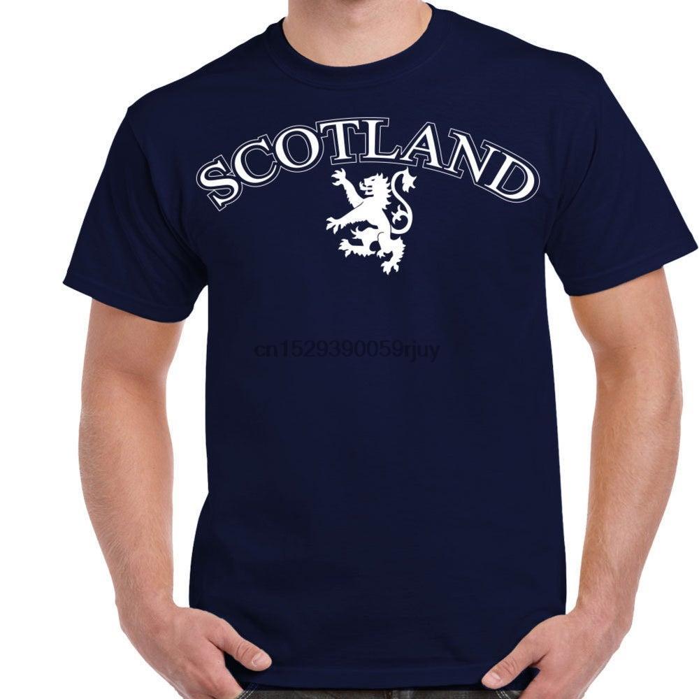 Ecosse Logo Lion Rampant hommes Navy Shirt