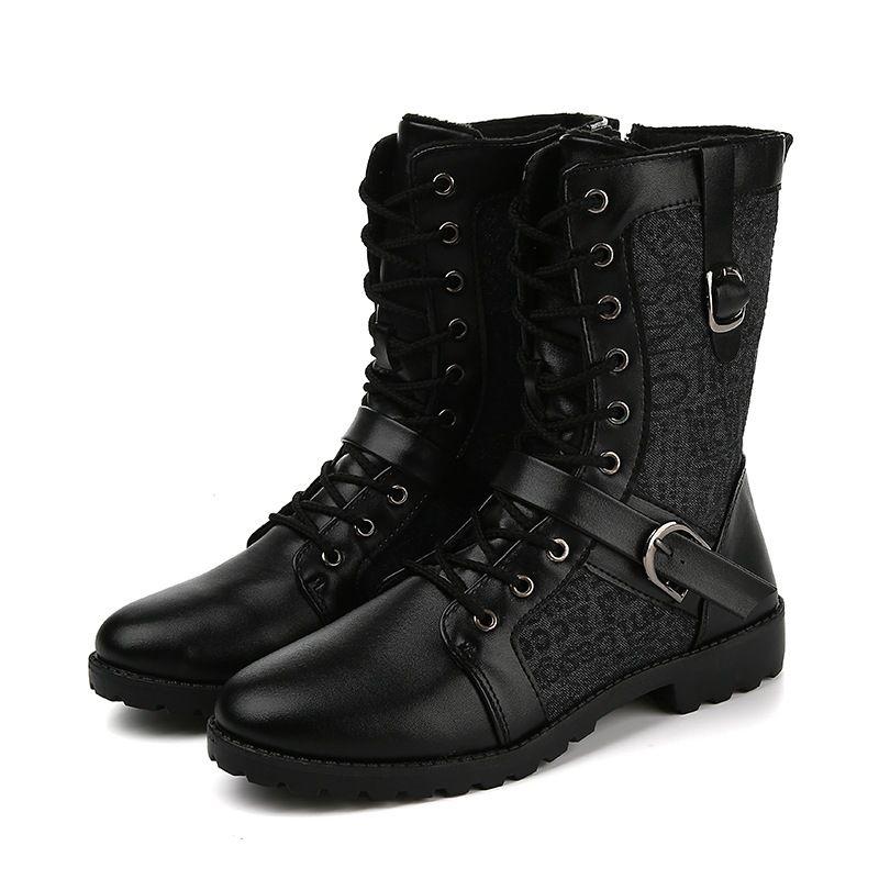 New Roman Homens Inverno Botas Masculino Neve tornozelo botas quentes impermeável pele Bota Casual Shoes Chaussure Homme Plus Size 25