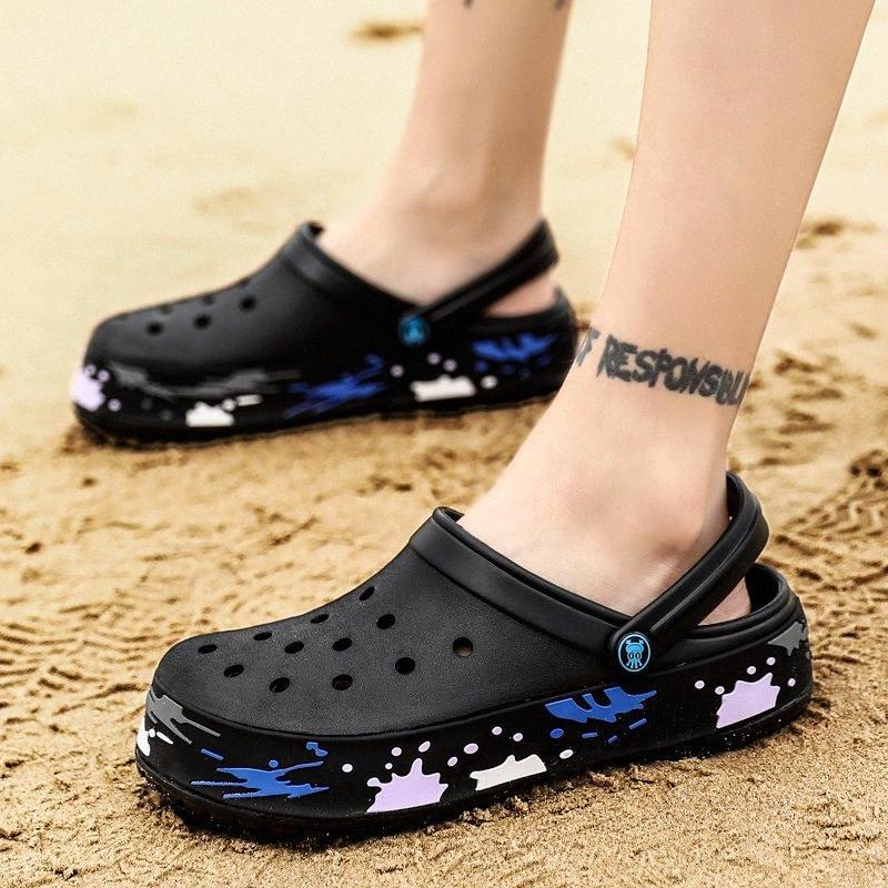 Jardín clásico original del tirón de los zapatos de los fracasos de secado rápido de agua deporte de los hombres verano de la playa de la aguamarina del deslizador al aire libre sandalias Gráfico Zapatos q0eE #
