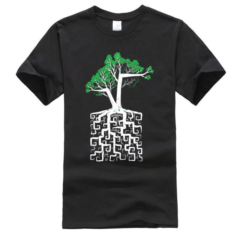 Labirent Karekök Matematik Tişörtlü Fiziksel Kimya Bilim Ağacı Üniversitesi Erkek Baskılı 3d Vintage Erkek için Tişört Tees Tops
