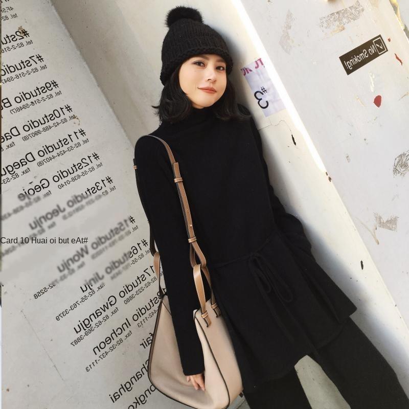 CzlDg bAv2J sweate Herbst neue Art und Weise westliche Frauenhalbrollkragen Breitbein Hosenanzug Stil zweiteiliges Set Internet breite Beinhosen Pullover