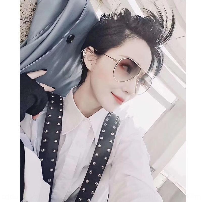 Moda moda de Sun vanguardista versáteis óculos clássicos moluscos óculos de sol das mulheres dos homens e de metal