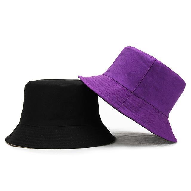 Della moda di New Panama donne degli uomini Doppia Uso benna Cappelli Pure Color Cappello per il sole Fedoras esterna della visiera bacino Cappellini pescatore Cappelli