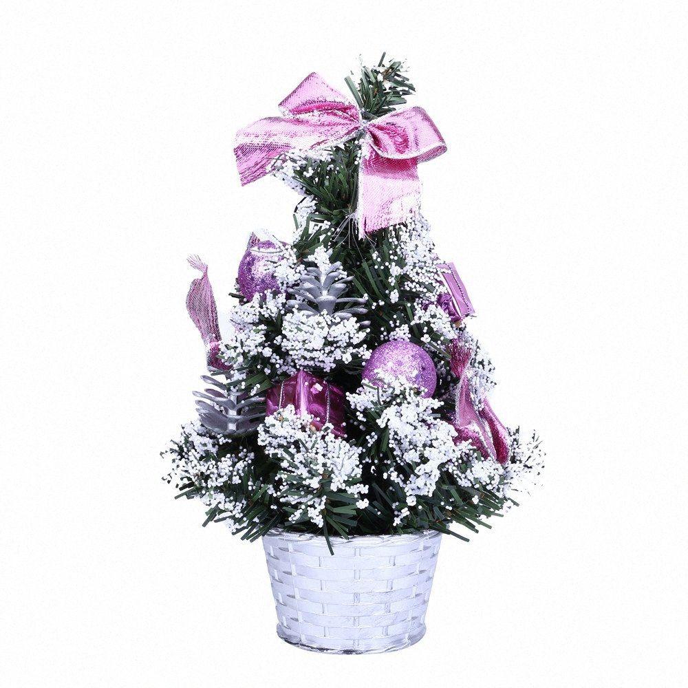 25cm Mini Weihnachtsbaum Ornament Schreibtisch Tisch Festival Xmas Party-Dekor-handgemachte Fertigkeit Geschenke Weihnachtsschmuck für Home / D Christma CSOL #