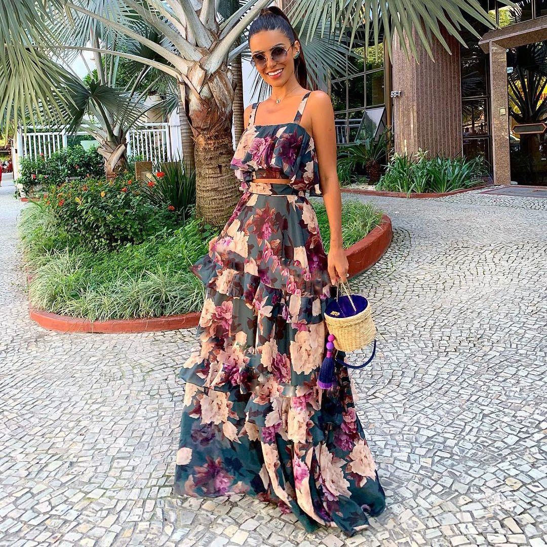 كشكش الأزهار حمالة إمرأة 2PCS فساتين الصيف جنسي قصير بلايز ملابس نسائية 2 قطعة عارضة كبيرة سوينغ اللباس
