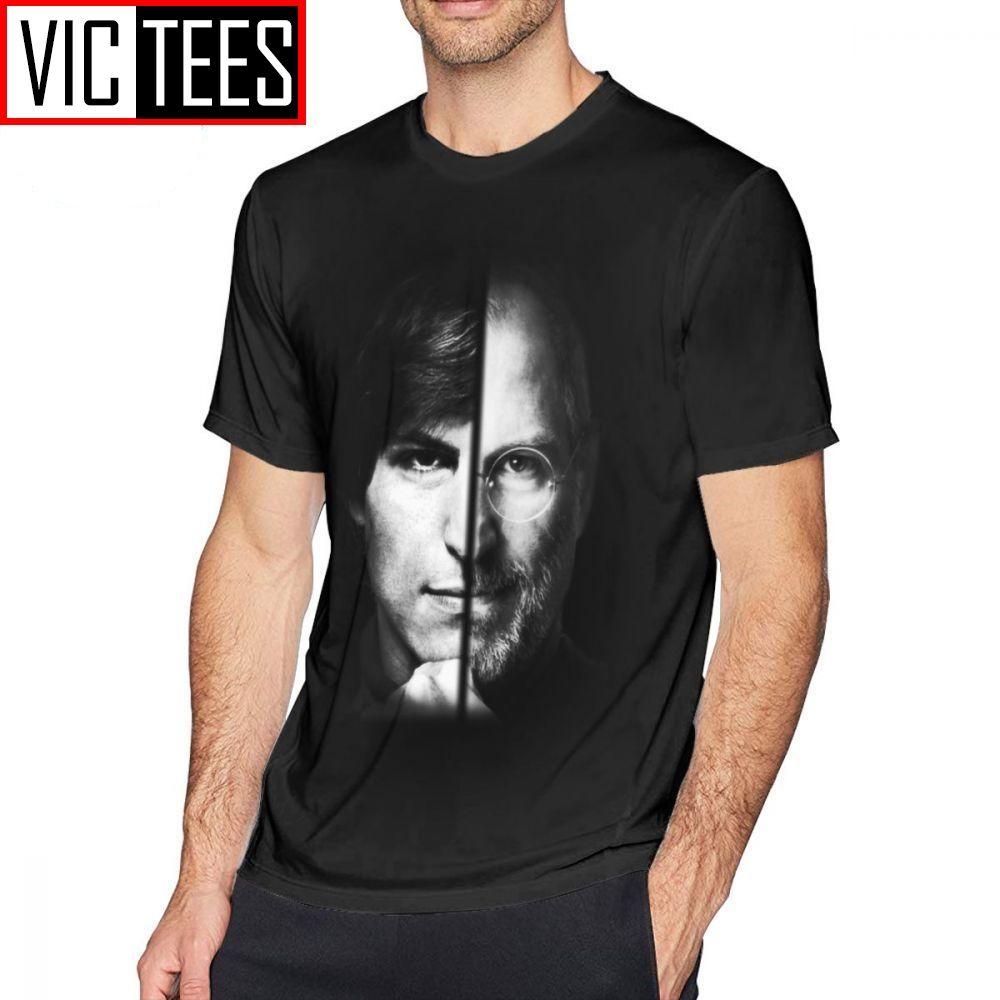 Hommes Steve Jobs T-shirts Steve Jobs T-shirt homme graphique T-shirt drôle de coton de base Plus taille T-shirt