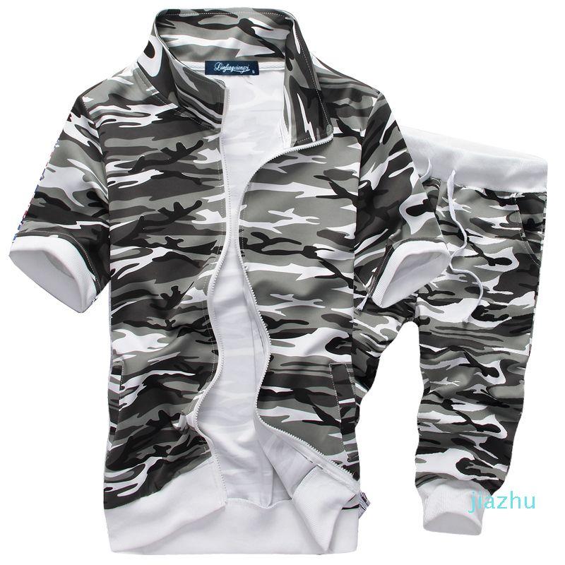 Hot Sale Summer Men Short Sleeve New Hot Men Hoodies Suit Casual Sweatshirts Set Men's Sportswear M-XXL Drop Shipping