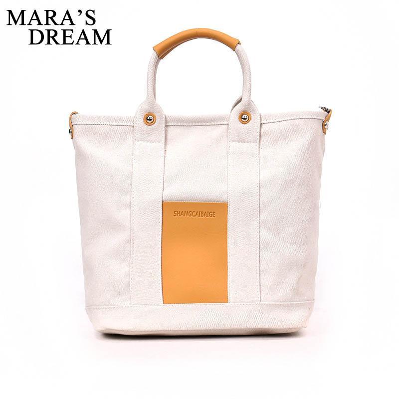 Sogno 2020 Canvas Bag Donna Nuovo Semplice solido di modo spalla di colore di Mara signore di sacchetto di tela di canapa del messaggero