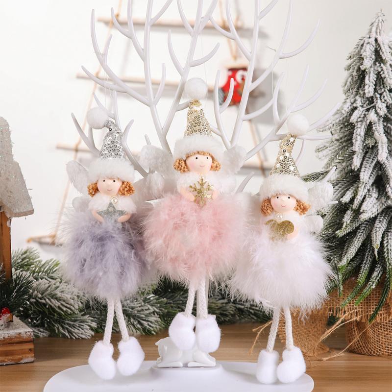 Xmas Tree Christmas Decorations Plush Doll Drop Ornament Hanging Pendant AU
