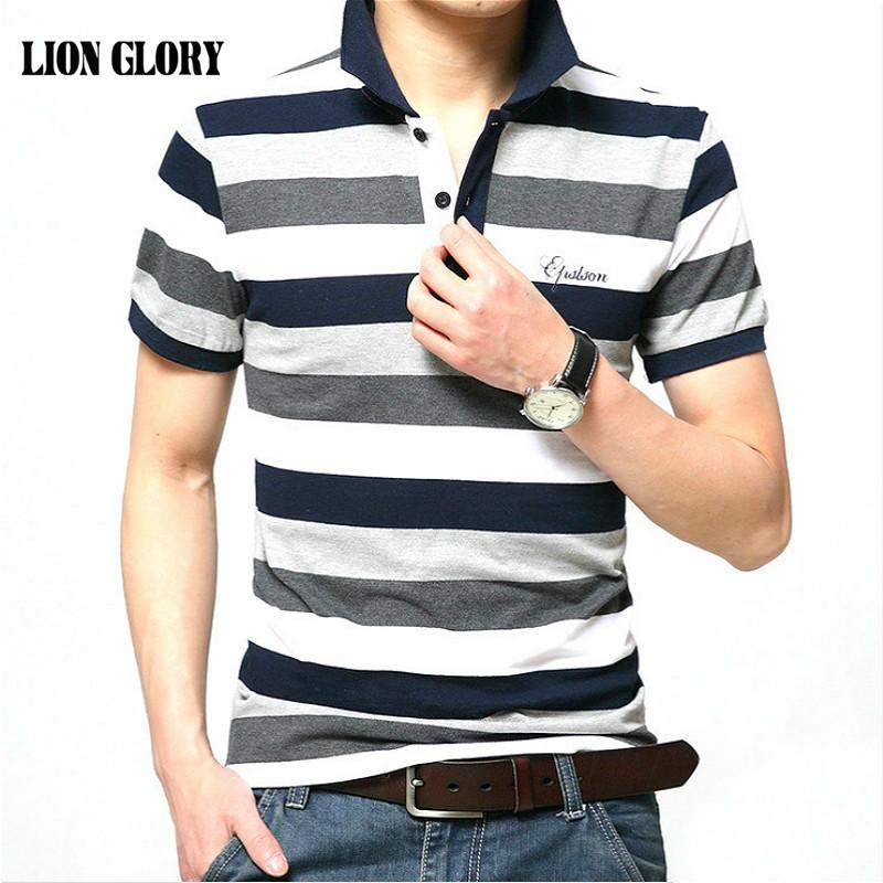 Мужчины Марка рубашка с короткими рукавами Марка Мужчины Хлопок Stripe кнопки дышащий рубашка 4XL Фабрика прямых продаж