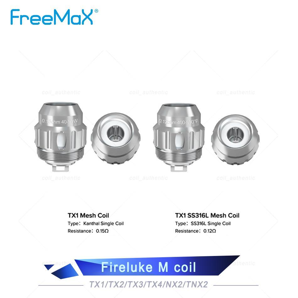 Auténtica FreeMax TX malla bobina TX1 TX3 TX4 0,15 ohmios bobinas de repuesto Para FreeMax Fireluke 2 Tanque