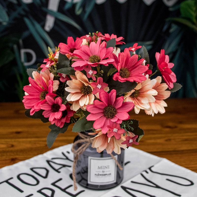 25Heads Artificial flores de crisântemo flores falsos filial flor para Casa Garden decorações da festa de casamento decoração Bouquet