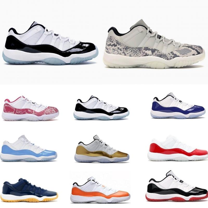 Schnelle Lieferung Klasse Low Mann-Basketball-Schuhe Jumpman 11 Universität Blau Snakeskin Infrarot-Low Frauen Sneaker Sneaker