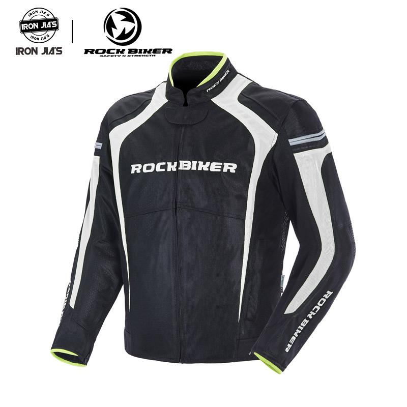 Montar motorista de la roca reflexiva Moto chaquetas de la motocicleta Armadura chaquetas de protección de la moto al aire libre del protector del cuerpo