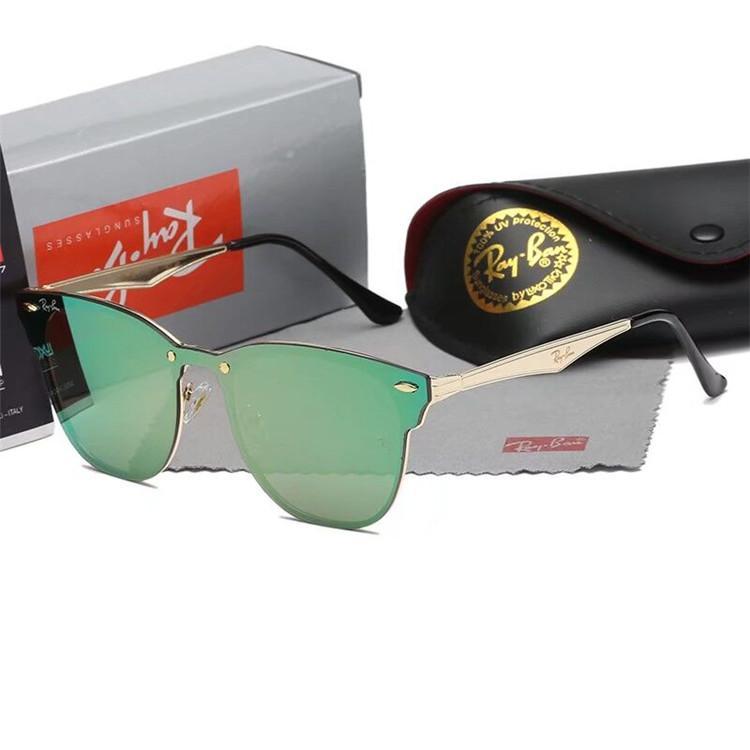2019 Luxury- высокого качества Классический Пилотные Солнцезащитные очки от дизайнеров Марка Mens женщин солнцезащитные очки очки металла Стеклянные линзы с коробкой
