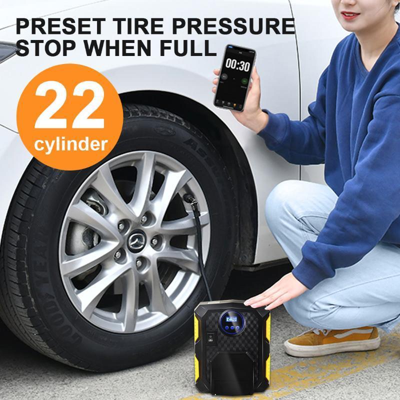 150 PSI Air Compressor Pump Portable Digital Tire Inflator 12V Digital Tire Inflatable Pump with LED Auto Air Compressor for Car