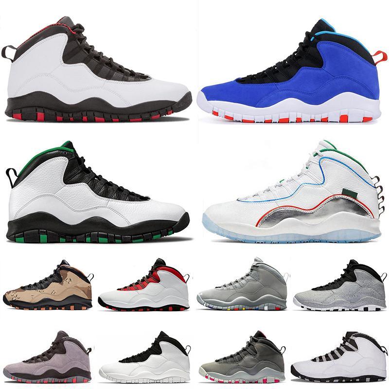 Alas nuevo estilo 10s refrescan los zapatos para hombre de baloncesto de cemento gris del cemento gris acero Entrenadores Zapatos zapatillas de deporte de Camo Westbrook 10s blancos