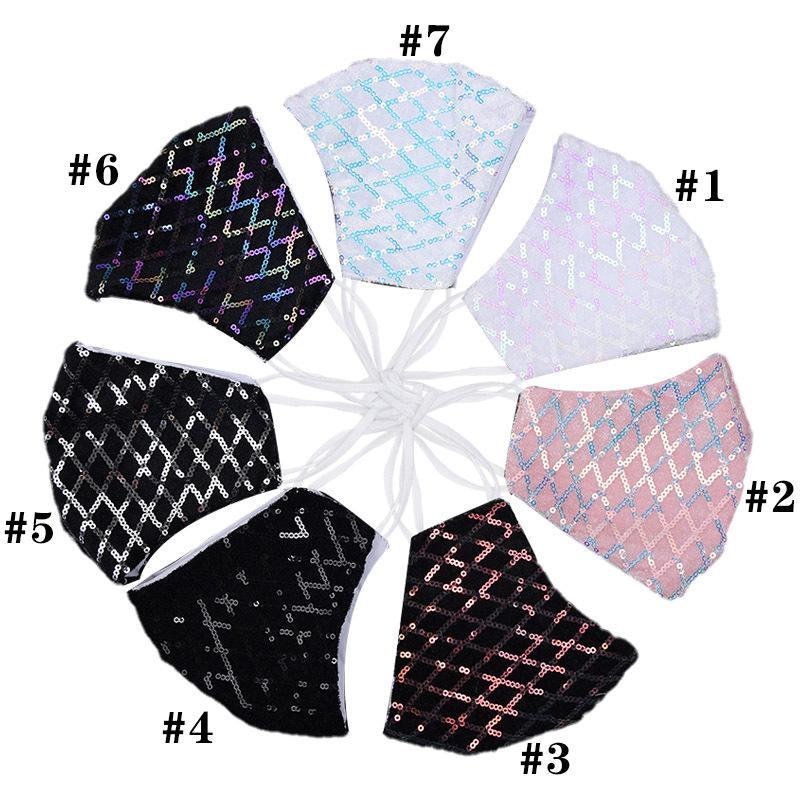 Las secuencias de la cara del diseño del cordón adulto cubierta multi de los colores del partido de enmascaramiento para Deroation personalizada lentejuelas doble capa de máscara de tela