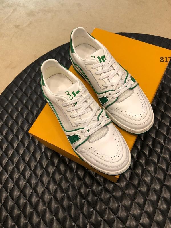 designer de luxo 817 2019 New Couro Calçados Masculinos Casual Luxury hommes Lace-Up Mens Shoes Casual com caixa original Zapatos de hombre Sh rápido