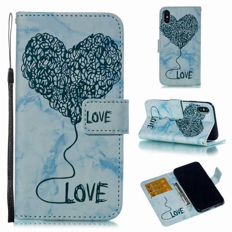 Lo stilista rilievo cassa del telefono portafogli in pelle bella grande cuore vibrazione per l'iphone x xr xs max 6 7 8 più