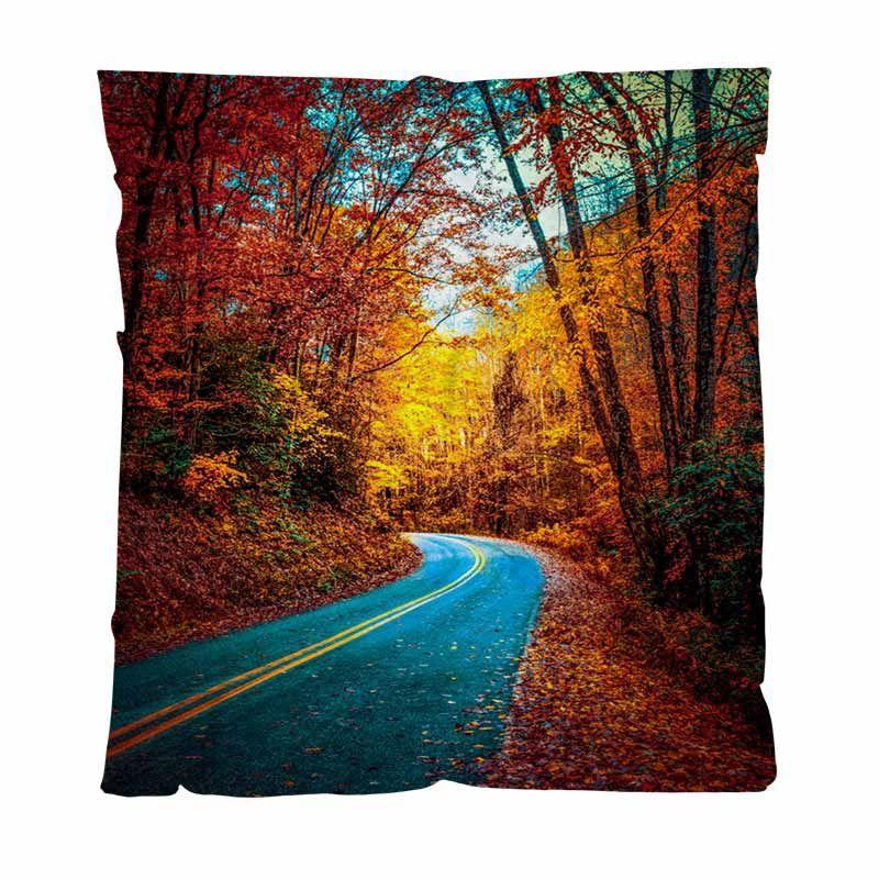 Otoño caliente franela mantas polar sólido blando Mantas nacional del otoño camino sinuoso a través Couch / Silla / asiento de amor / Manta autocaravana