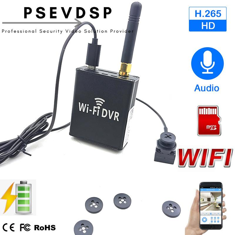 Скрытое HD Mini Wi-Fi Кнопка камеры комплекты DVR система 1080P CCTV DVR AHD P2P Video Surveillance Recorder TF Card обнаружения движения