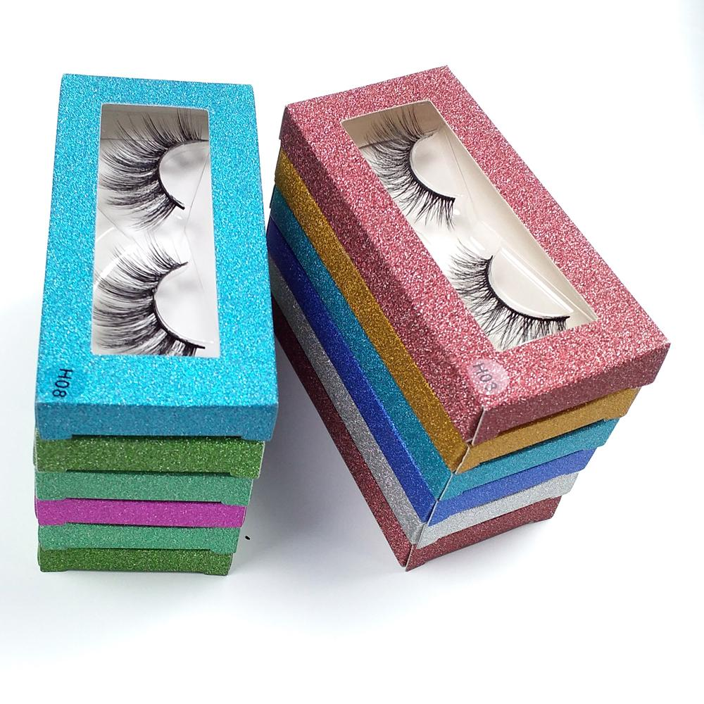 Mink Wimpern Großhandel 10-Art 3D-Mink Lashes Natürliche Mink Wimpern Packung falsche Wimpern Makeup Falsche Wimpern-Pack Bulk Ware