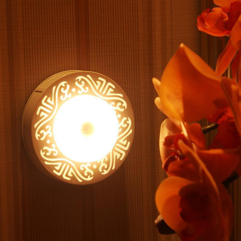 Neue LED Menschlicher Körper Induktions-Lampe Lichtsteuerung Sensor Nachtlicht Badezimmer Schlafzimmer Nachtnachtenergiespar