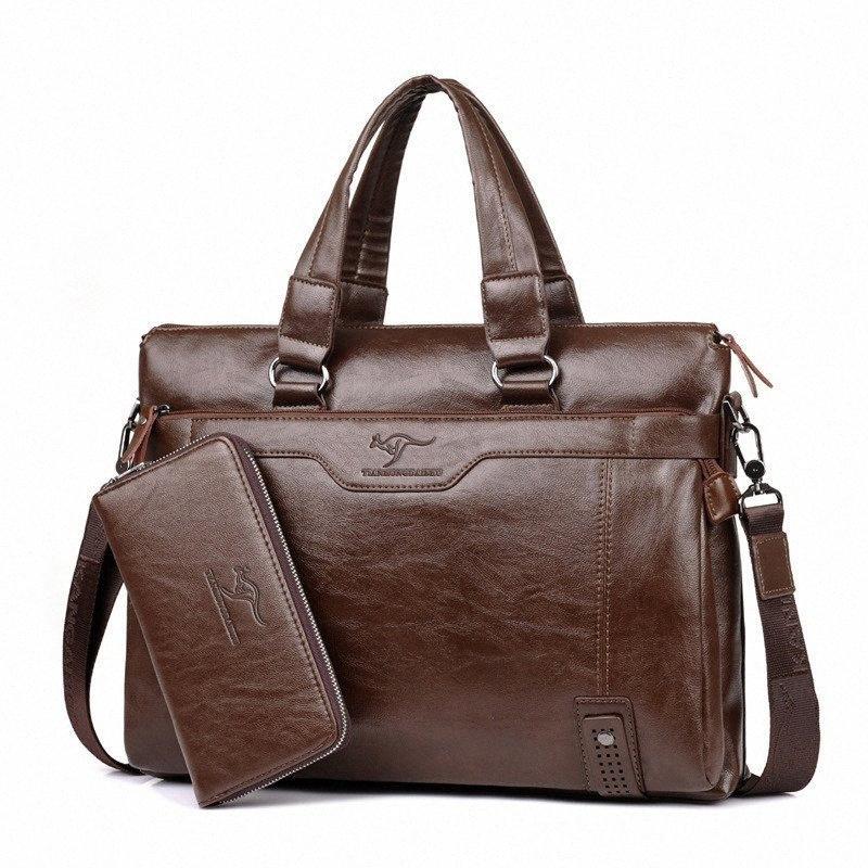 2017 Neuer Markenname Männer Beutel-Handtasche Crossbody Einzel-Schulter-Männer Taschen Messenger-Aktenkoffer der Männer Beutel Geldbeutel Computer-Geniune Leder V potr #