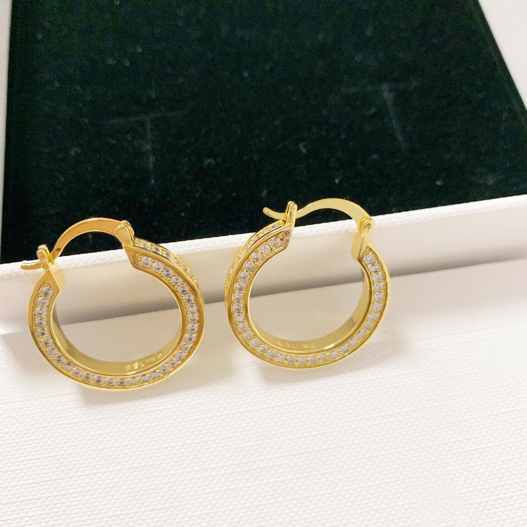 Nueva lujo de las mujeres de personalidad llena de diamantes pendientes joyería del diseñador del diseñador viento frío de lujo pendientes