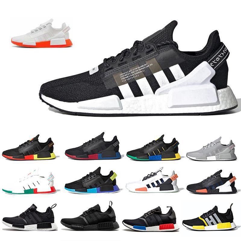 NMD Nucleo Nero Bianco NMDS R1 V2 Mens Running Shoes Città del Messico Oreo Olimpiadi Classic Aqua toni metallici dell'oro Uomo Donna Sport Sneakers
