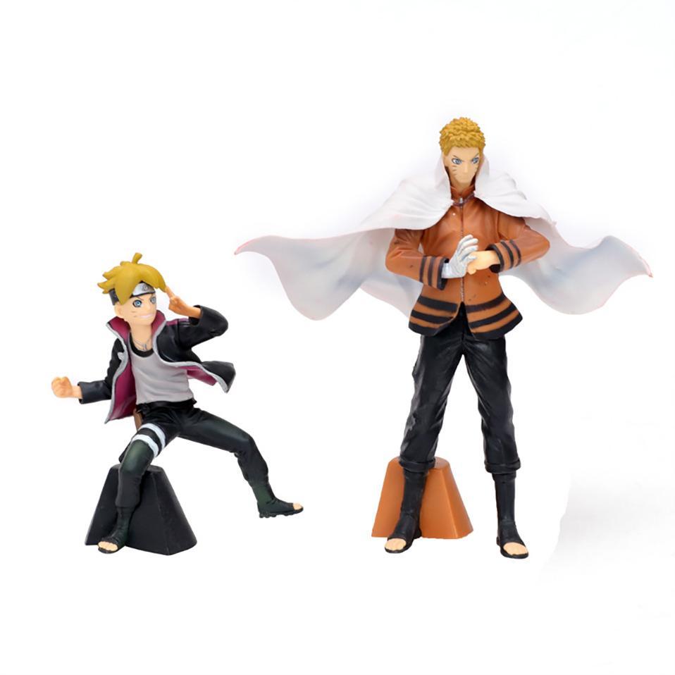 2pcs/set 18cm Japanese Anime Uzumaki Naruto Uchiha Itachi Madara PVC action figure Decoration collectible model toys gift Y200811