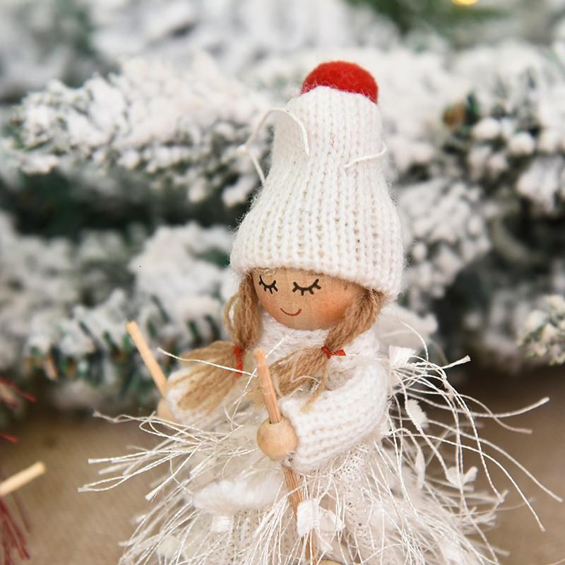 1pc decorazioni sveglie di angelo Girl Doll Ciondolo Navidad 2021 regalo di natale di Capodanno Alberi di Natale per i bambini