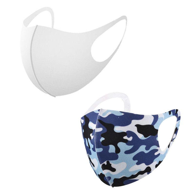 3D stéréoscopiques Blanks Masque visage Sublimation adultes poussière Masque de prévention Respirant peut être réutilisé pour le bricolage Heat Transfer Imprimer DHL gratuit