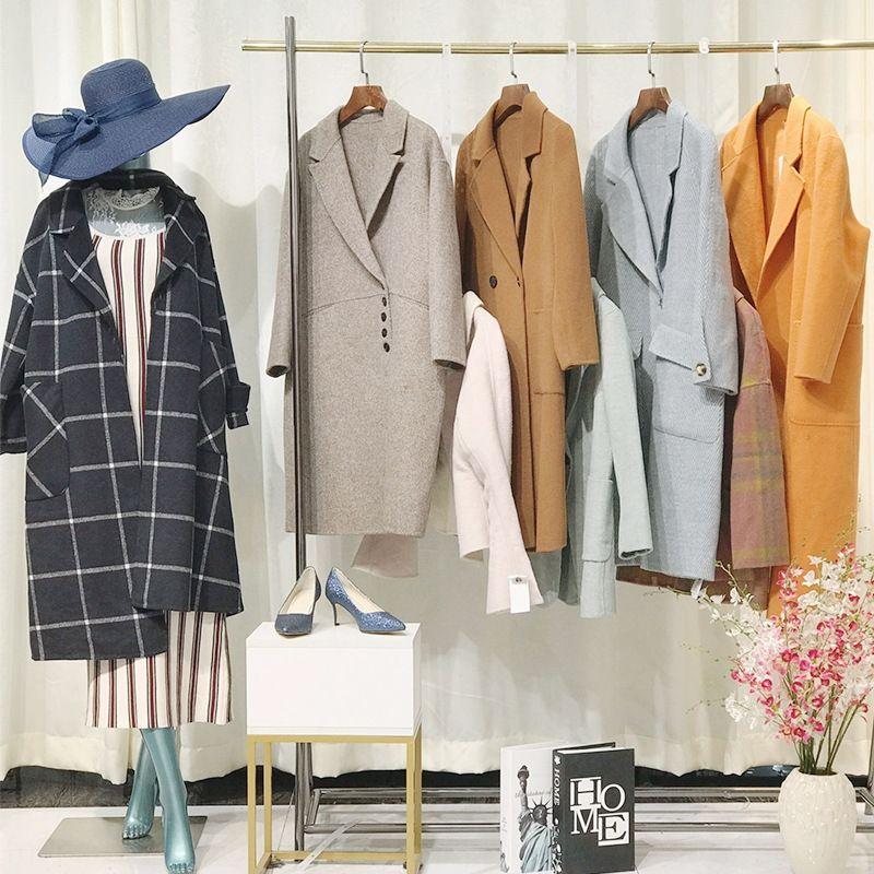 Double-sided en diversos monopólio loja de roupas femininas casaco dupla face Overcoat de lã lã lã: roupa das mulheres