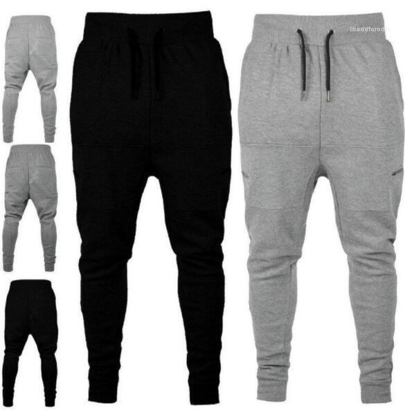 Solid Color Pantlones Designer Zipper Feixe decorativa Calças Corredores Sweatpants Vestuário Pants Elastic cintura Atlético Pista Masculina Pant Mens