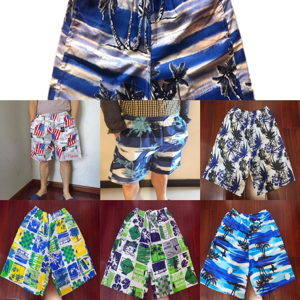 Мужские пятиточечные случайные большие пляжные брюки размера печатных рыхлой быстросохнущие пляжа брюки I6zwK