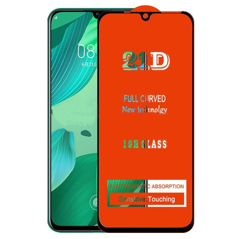 Protetor de tela 21D de colagem completa Protetor de vidro temperado protetora de cobertura curvada protetor de filme de proteção para Samsung Galaxy S21 mais S20 Fe A01S A02S A03S A51S A71S