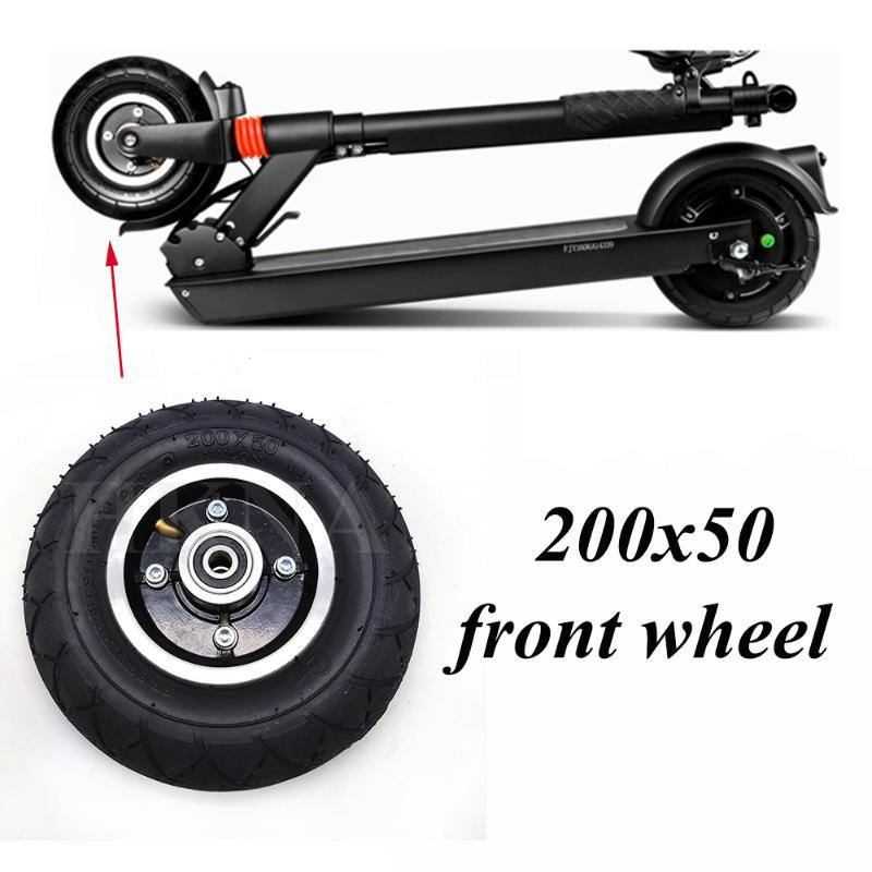 200x50 Electric Scooter Tyres With Wheel Hub 8 Inch Electric Scooter Vehicle Aluminium Alloy Wheel Pneumatic Tire