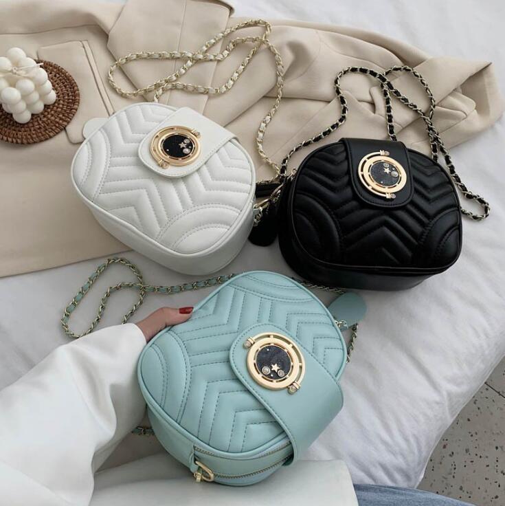2020 Moda Kadın Crossbody Yüksek qualuty İki Fermuar Omuz Çantaları Düz Laies Kamera Bag Konu