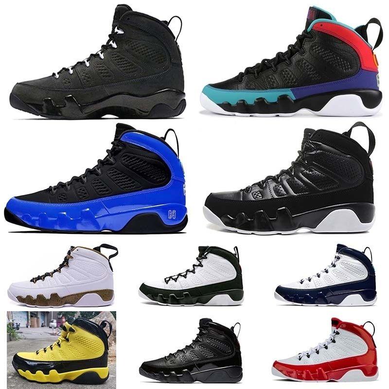 Calidad de Hight negro antracita blanco Jumpman 9 estatua 9s zapatillas de baloncesto Racer Blue Dream es lo que hace que NakeskinJordánzapato Retros