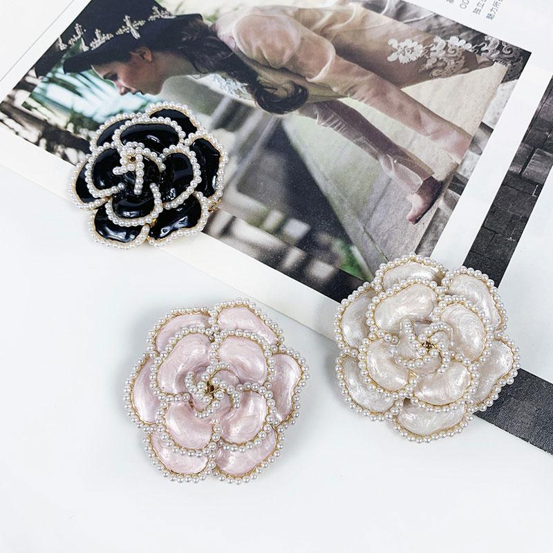 Flores Pearl Pins Broches Flower Broche Broach Jewlery Style For Women