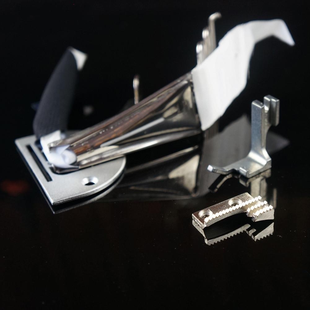 34mm A10 Steppstichmaschine Ersatz rechtwinklig Nähen Metall Overlock-Ordner