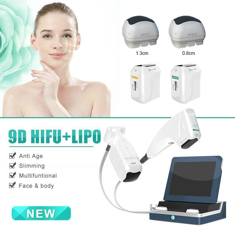 2020 HIFU LIPOSONIX 2EN1 Dispositif anti soins focalisés de haute intensité ultrasons HIFU FDA Hifu corps et le visage machine à ultrasons collagène Buildin