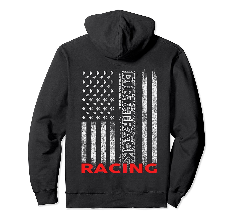 T-shirt da trilha de sujeira que compete bandeira americana