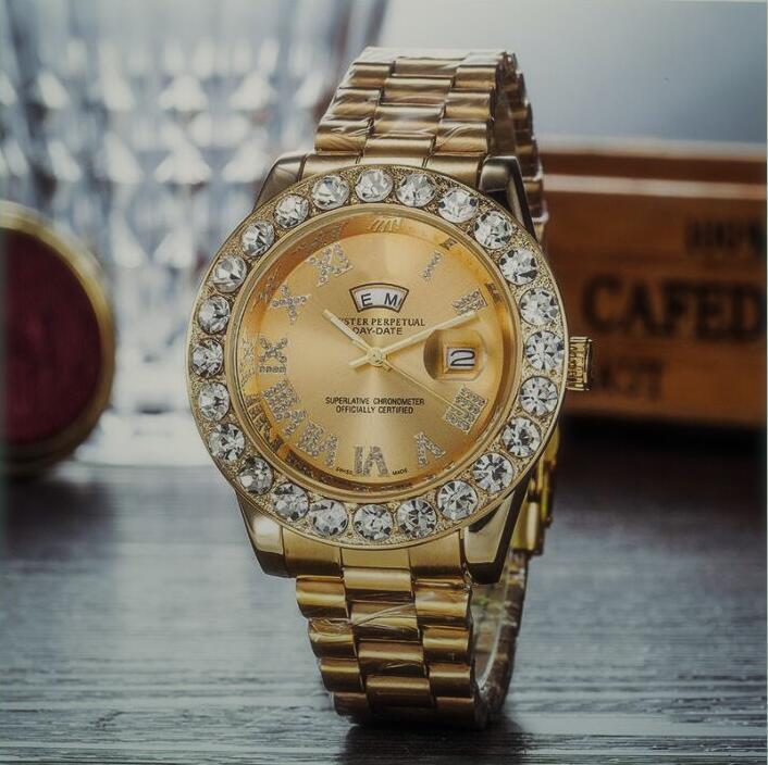 reloj mujer vente montres femmes de luxe Designer dame robe blanche dames regardent les hommes de diamant rose Bracelet Montre-bracelet Horloge