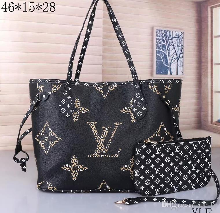 Tasarımcı-Avrupa ve Amerikan popüler yeni orta yaşlı kadın çantası anne çantası deri messenger kitle rahat omuz çantası # 003