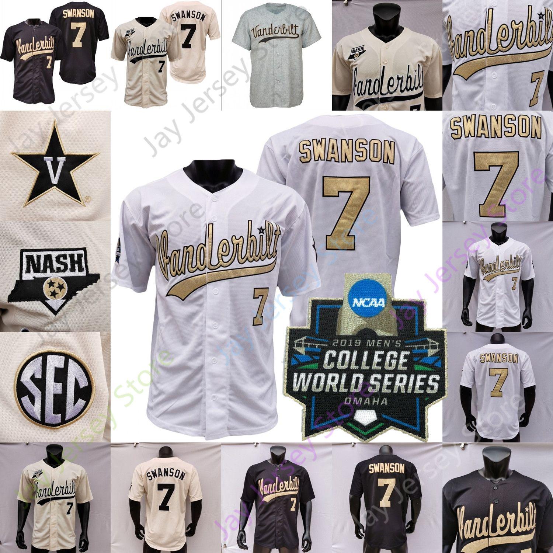 2019 NCAA College Baseball WS Vanderbilt Commodores Jersey Jack Leiter JJ Bleday Cooper Davis Austin Martin Dansby Swanson Tim Corbin CJ Rodriguez